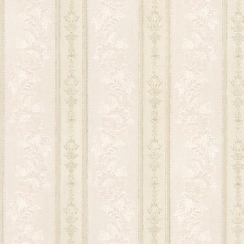Brewster Abraham Cream Embellished Stripe Wallpaper