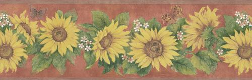 Brewster Sunflowers Wallpaper Border At Menards
