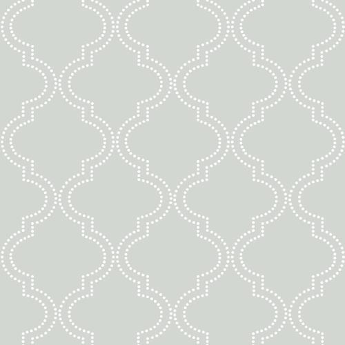 Nuwallpaper Quatrefoil Peel Stick Wallpaper Roll At Menards