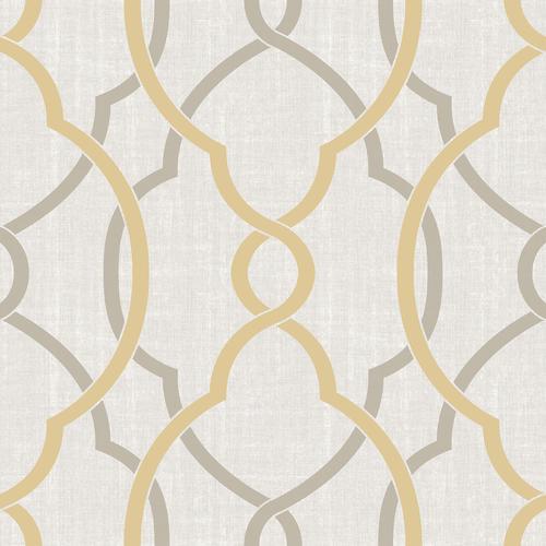 Nuwallpaper Sausalito Taupe Yellow Peel Stick Wallpaper Roll At Menards