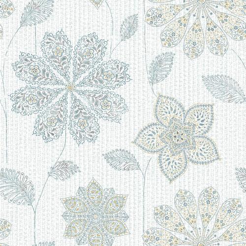 Nuwallpaper Gypsy Floral Blue Green Peel Stick Wallpaper Roll At Menards