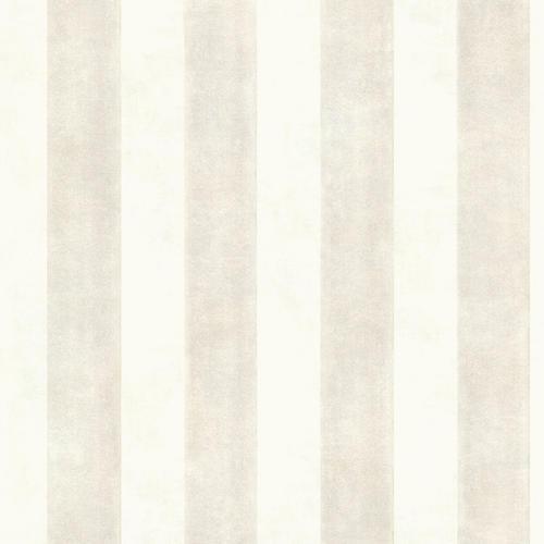 Brewster Surry Gray Soft Striped Wallpaper