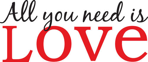 Brewster WallPops All You Need is Love Wall Quote Decal