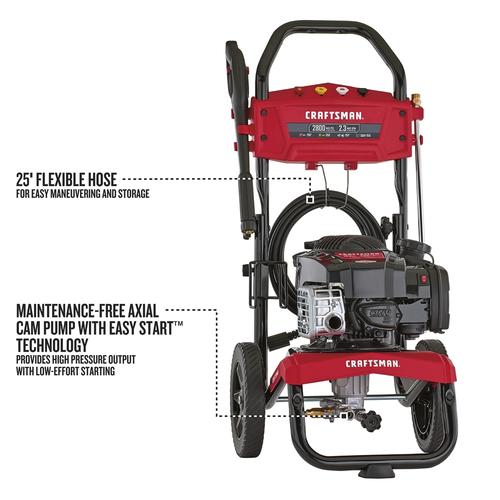 Craftsman 2800 Psi 2 3 Gpm Gas Pressure Washer At Menards