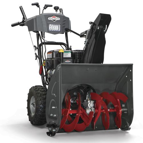 Menards Snow Blowers >> Briggs Stratton 24 208cc Two Stage Electric Start Gas Snow