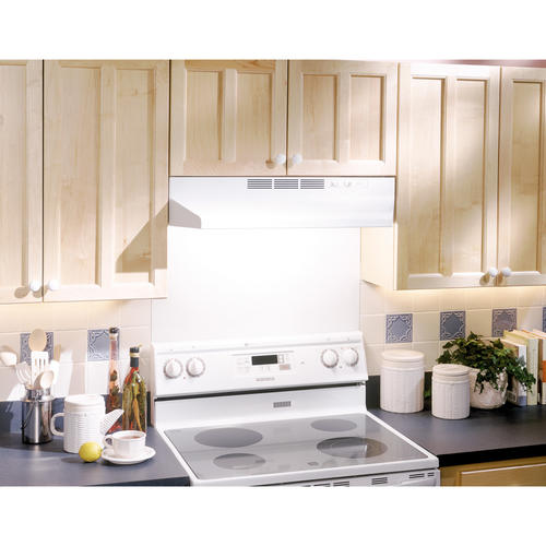 "White Over The Stove Range Hood 30/"" Non-Ducted Exhaust Fan Under Kitchen Cabinet"