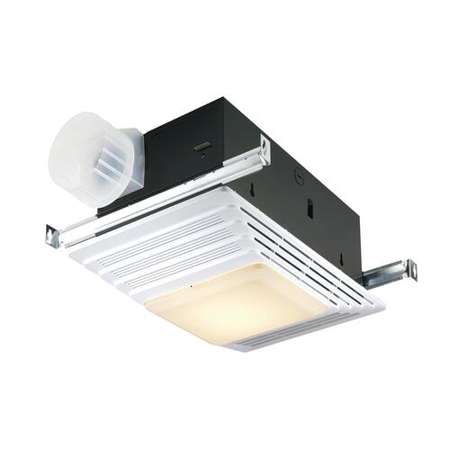 broan® 70 cfm ceiling exhaust bath fan with heater and