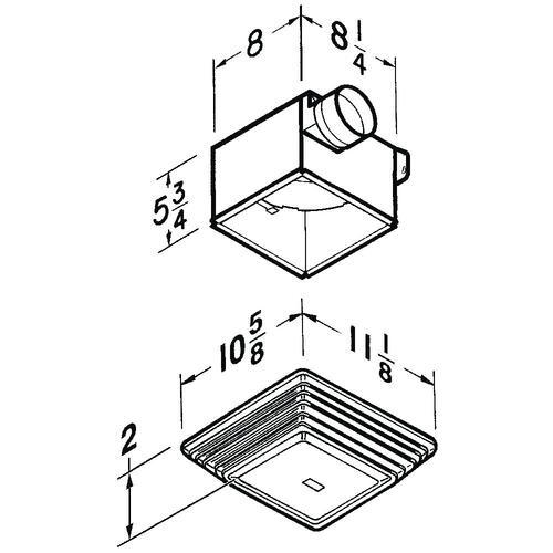 broan® 50 cfm ceiling exhaust bath fan with light at menards®  menards