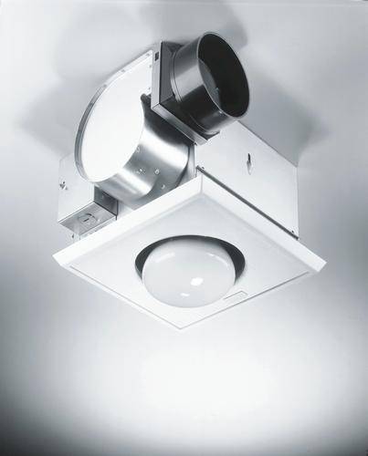 broan® 70 cfm ceiling exhaust bath fan and heater at menards®