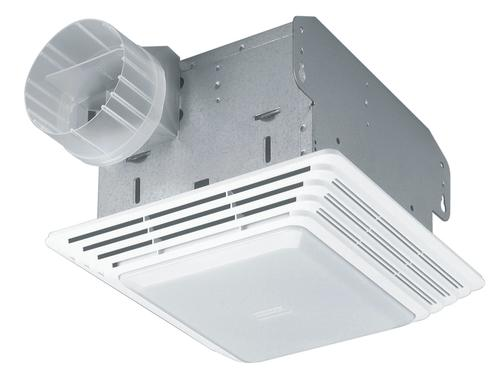 broan® 50 cfm ceiling exhaust bath fan with light at menards®