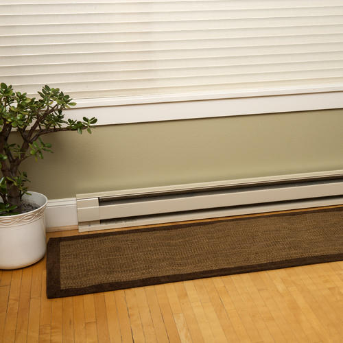 White Cadet Electric Heater Baseboard Quiet Convection 2000-Watt 240V 208V 96in