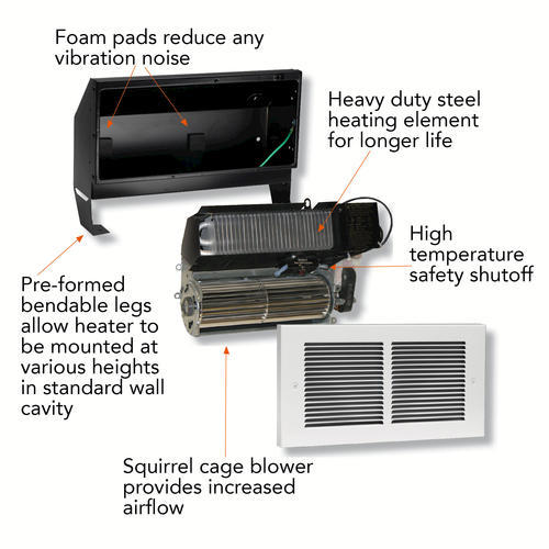 cadet heater wiring diagram 240v cadet 2 000w 240v complete unit wall heater white at menards    wall heater white at menards