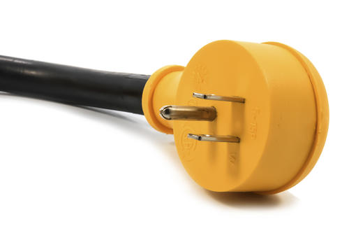 Camco 15 Amp Male To 30 Amp Female Power Grip Rv Electrical Adaptor At Menards
