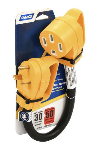 Camco 30 Amp Male To 50 Amp Female Power Grip Electrical Adaptor At Menards