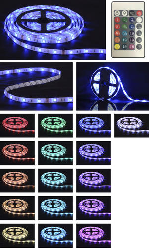 Patriot Lighting 9 8 Rgb Flexible Plug In Led Tape Light At Menards