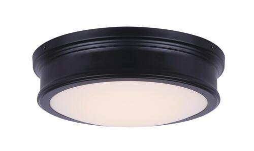 Patriot Lighting Otis Matte Black Led Flush Mount Ceiling Light At Menards