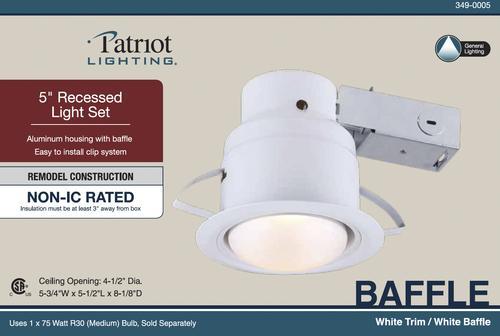 Patriot Lighting 5 White Recessed Light Set At Menards