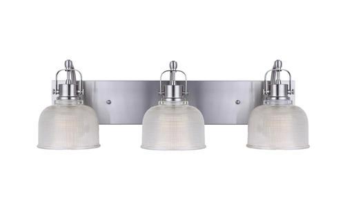 Patriot Lighting® Dynasty 3 Light Brushed Nickel Vanity Light At Menards®
