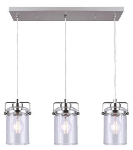 "Menards Turbo Fan Lighting Led Flush Mount Ceiling Lights: Patriot Lighting® Jeneal 26"" Brushed Nickel 3-Light Island"