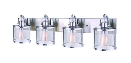 Capital Lighting 4 Light Vanity Fixture Brushed Nickel: Canarm Beckett Brushed Nickel 4 Light Vanity At Menards®