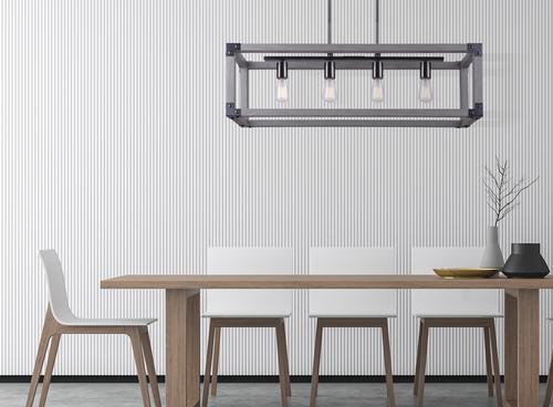 Patriot Lighting Elegant Home Hendy Black Stainless Steel