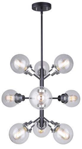 Patriot Lighting 174 Atom 9 Light Chandelier At Menards 174