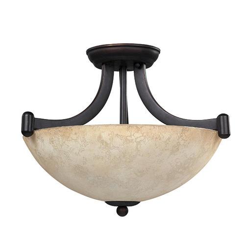 Patriot Lighting Warren Rubbed Antique Bronze Convertible - Kitchen ceiling light fixtures menards