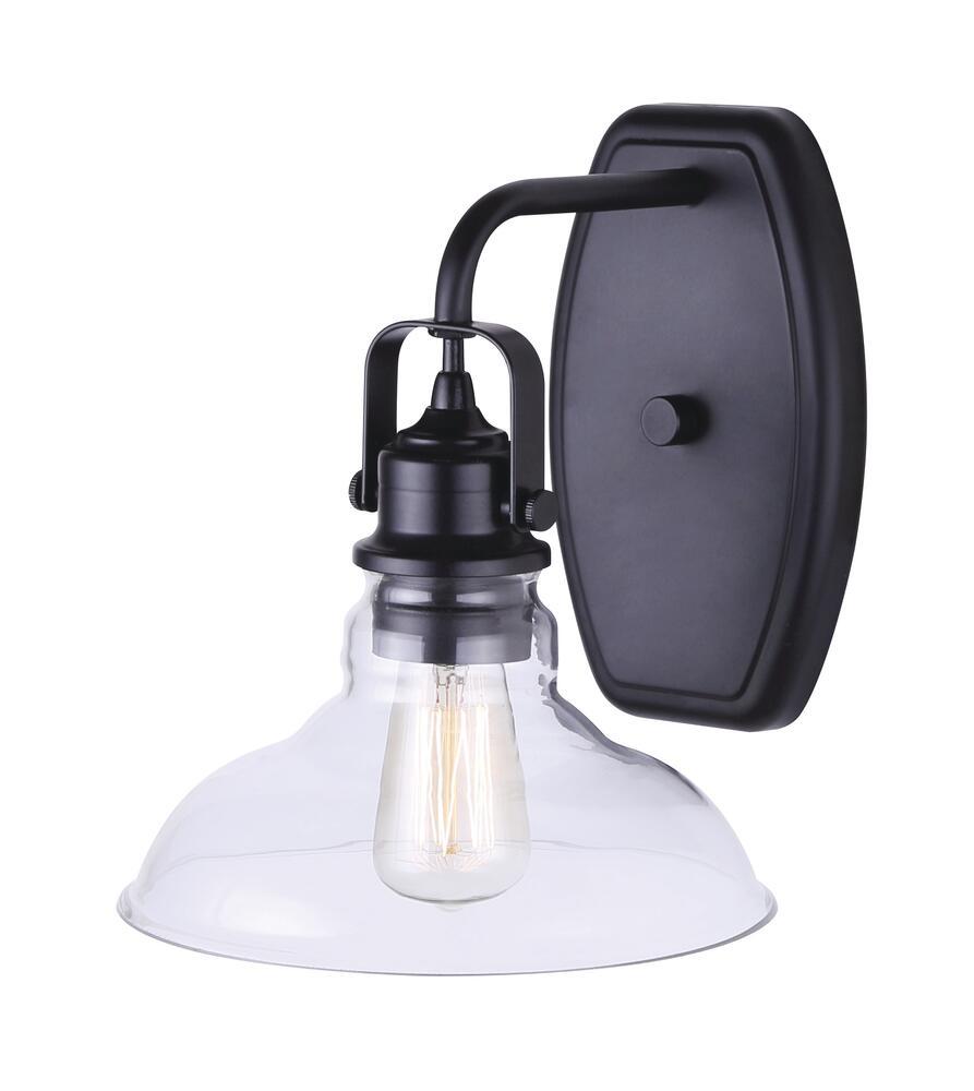 Canarm Farrell Black 1 Light Indoor Wall Light At Menards