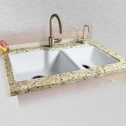 Cast Iron Double Bowl Kitchen Sink
