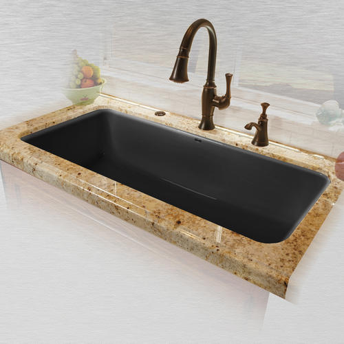 Ceco Vilano Undermount 43 Cast Iron Single Bowl Kitchen Sink At Menards