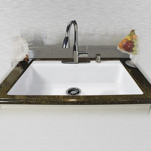 Ceco Delray Undermount 33 Cast Iron Single Bowl Kitchen Sink At Menards