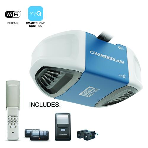 Chamberlain 1 2 Hp Wi Fi Belt Drive Garage Door Opener Better At Menards