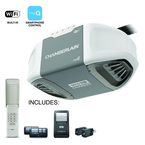 Chamberlain 1 2 Hp Wi Fi Chain Drive Garage Door Opener Better At Menards