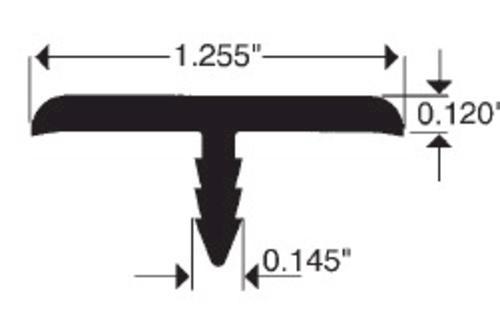 3mm Black PVC T-Moulding - 250' Roll at Menards®