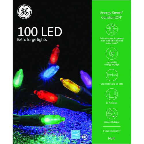 ge energy smart colorite 100 light 7mm extra large led mini christmas light set at menards