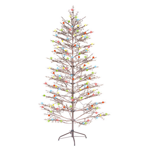 Ge Christmas Tree Lights.Ge 200 Light Brown 6 5 Winterberry Tree With Led Sugar