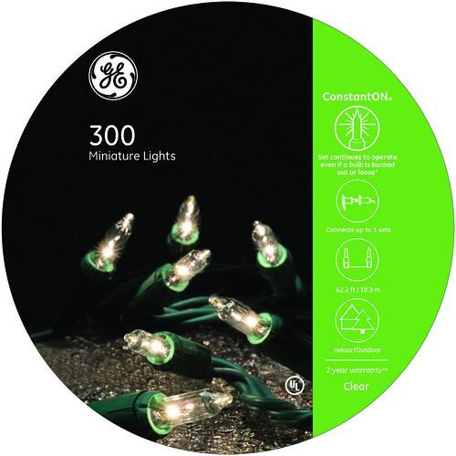 Ge Christmas Lights.Ge Constanton 300 Light Clear Ez Reel Christmas Light Set