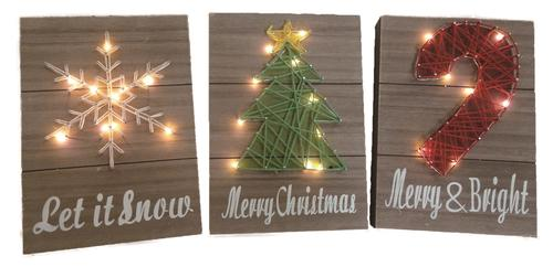 light up wall deor.htm enchanted forest   8  x 11  led string art christmas wall decor  led string art christmas wall decor