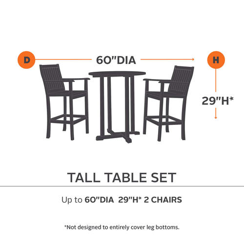 Ravenna Tall Round Table 4 Tall Chair Patio Set Cover At Menards