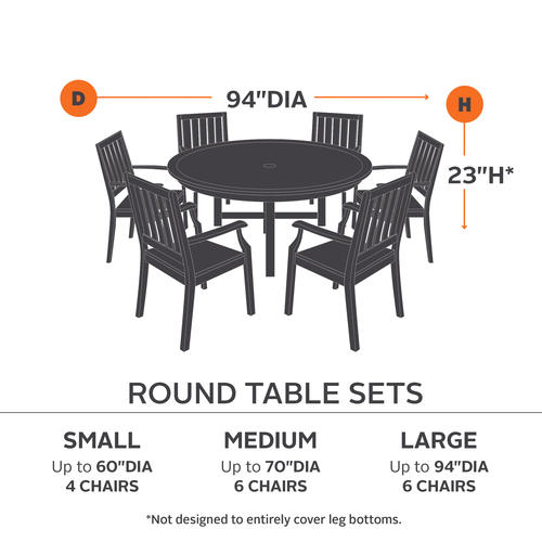 Ravenna Small Round Table 4 Standard Chairs Patio Set