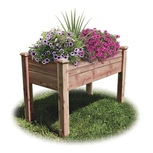Sensational 24 X 48 Cedar Elevated Garden Bed At Menards Pabps2019 Chair Design Images Pabps2019Com