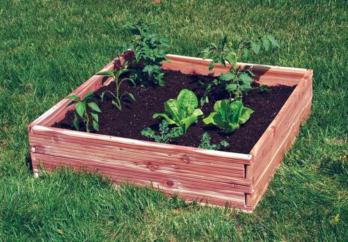 34 X 34 Cedar Raised Garden Bed At Menards