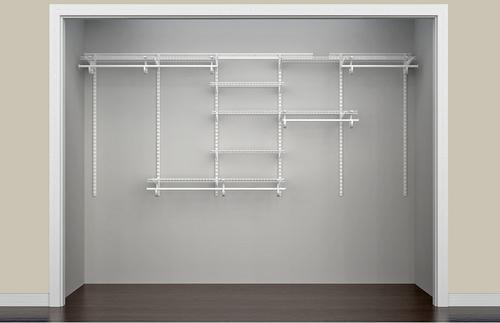 Closetmaid Shelftrack 84 W 120 W X 84 H X 13 D White Wire Closet Kit At Menards