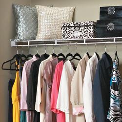 4 pk ClosetMaid 16 In Shelf /& Rod White Wire Closet Corner Shelf Kit