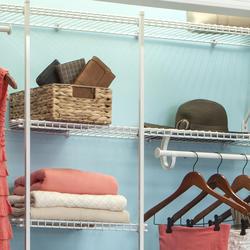 48-Wire Shelf White Closet Drywall Clips