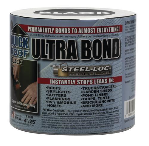 Quick Roof Ultra Bond Black Self Adhesive Roof Repair Tape