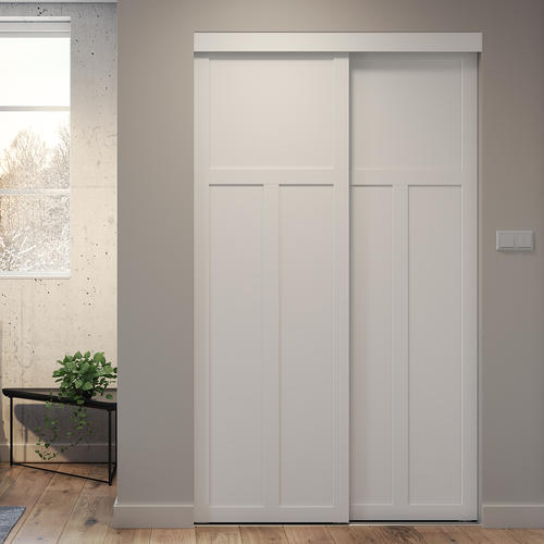 Colonial Elegance White Hardboard Mission Sliding Closet Door At Menards