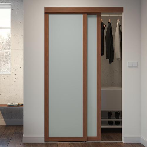 finest selection d8721 2834e Colonial Elegance® Gunstock Framed 1-Panel Frosted Glass ...