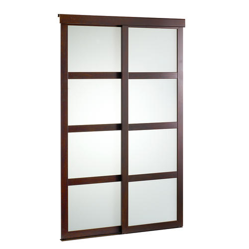 Colonial Elegance® Fusion Plus 48  x 80-1/2  Chocolate Framed  sc 1 st  Menards & Colonial Elegance Fusion Plus Framed Frosted Glass Sliding Door at ...