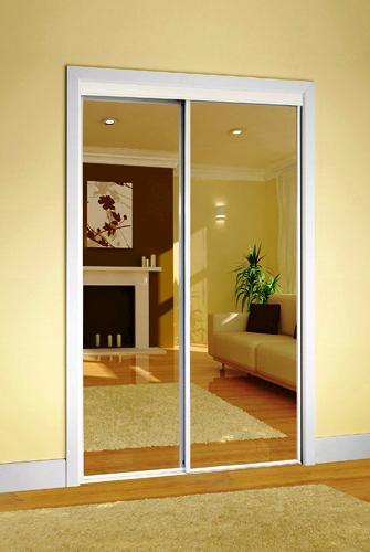 Colonial Elegance Clic Mirrored Sliding Door at Menards® on
